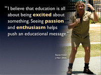 Presentation Zen Steve Irwin Passion Enthusiasm Push An Educational Message